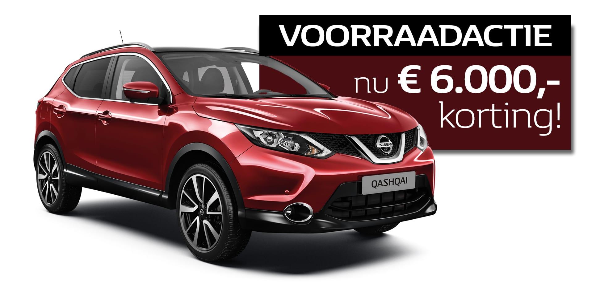 Qashqai 6000 euro korting