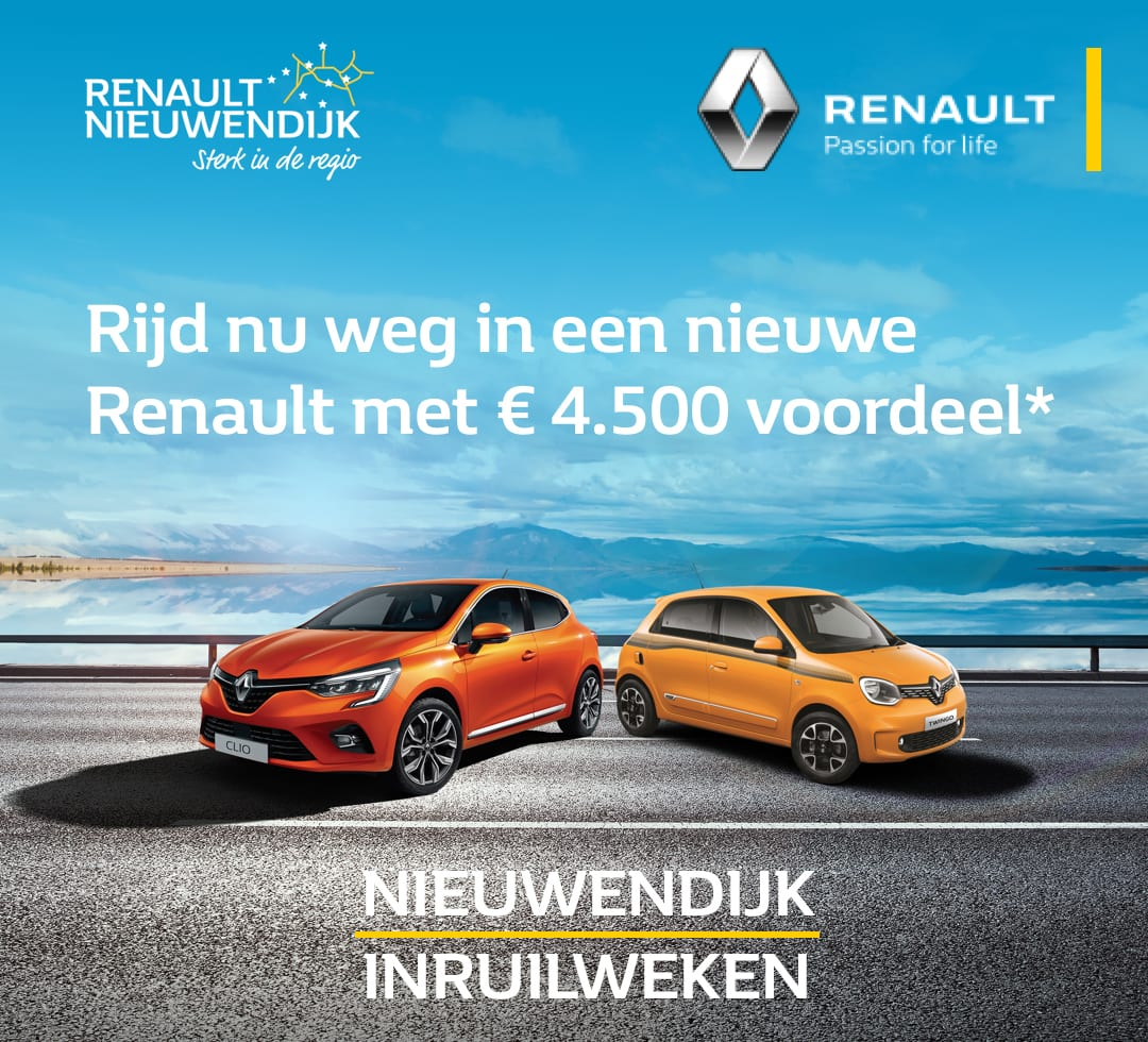 Nieuwendijk Inruilweken t/m 31 juli